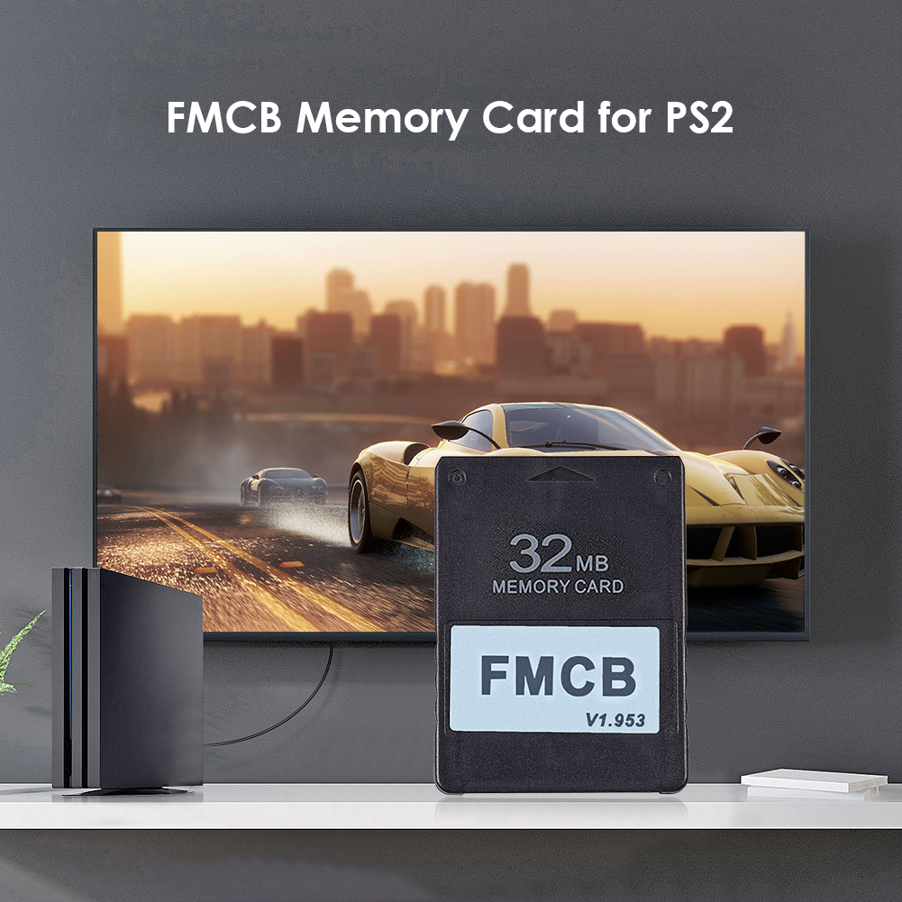 Free McBoot Card FMCB Office Caring Computer Supplies for Sony PS2 Playstation 2 8MB/16MB/32MB/64MB Memory Card