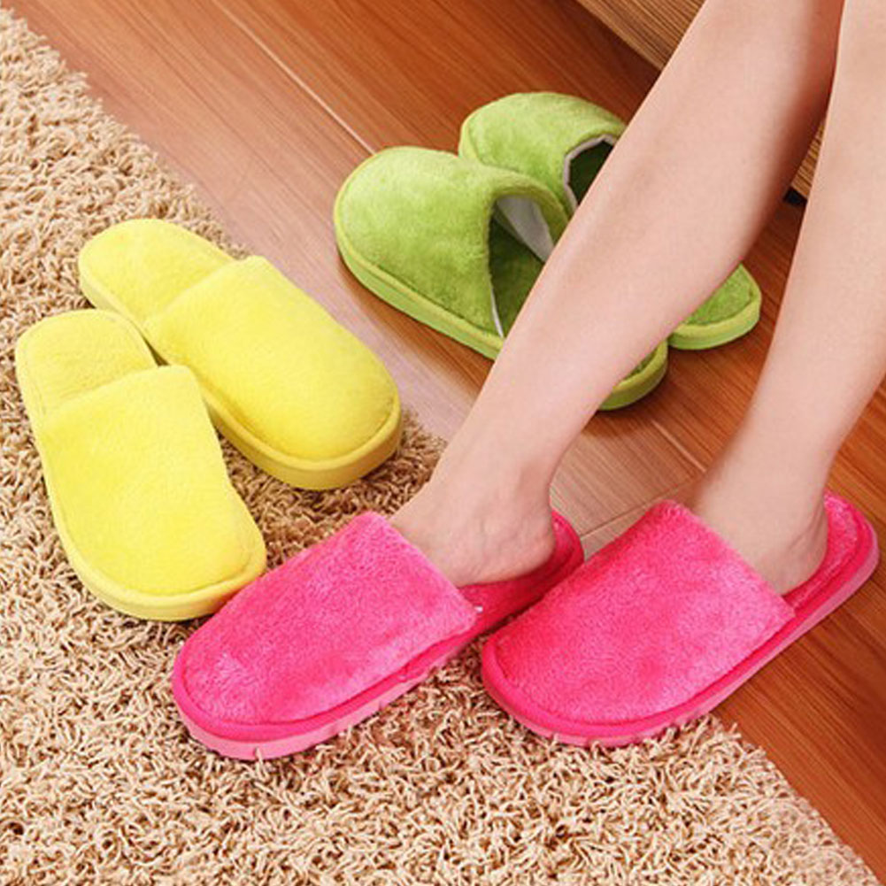 9 Colors Soft Plush Home Slippers Men Indoor Cotton Shoes Big Size Winter Casual Sneakers For Men Floor Warm Slipper