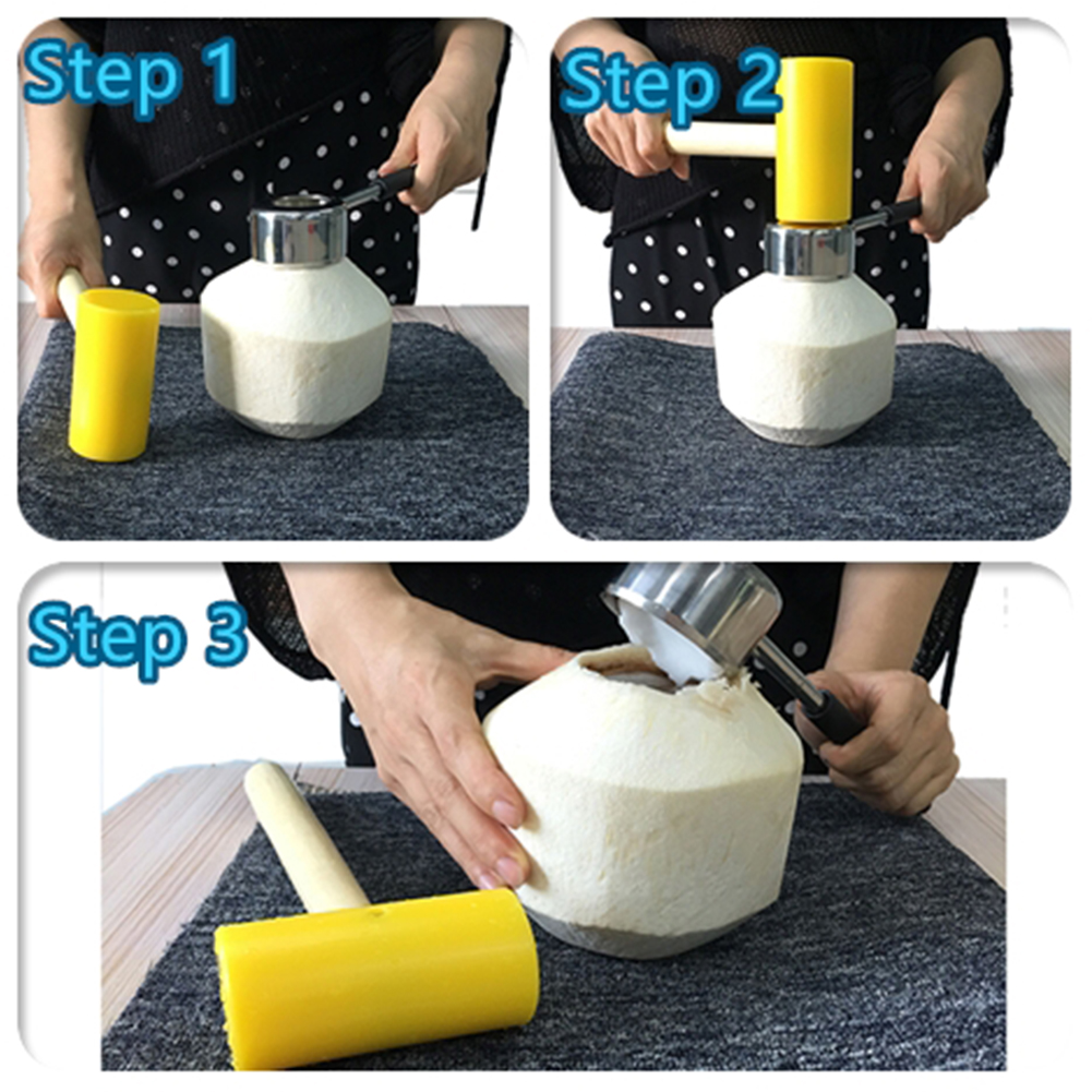 2pcs/set Home Kitchen Tools Coconut Opener Manual Bar Accessories Stainless Steel Multipurpose Portable Easy Grip Puncher