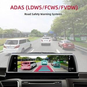"""Image 2 - WHEXUNE 2019 yeni 4 kanal araba dvrı Dashcam 4G ADAS Android 10 """"merkezi konsol aynası GPS WiFi FHD 1080P arka Lens Video kaydedici"""