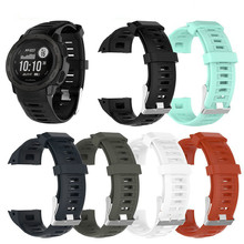 Quick Release Silicone Replacement Strap Watch Band for Garmin Instinct Replacement Wristband Strap Smart Watch Accessories soft silicone protective case for garmin instinct smart watch dial protection transparent watch case for garmin instinct watch