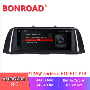 Bonroad 10.25 inch Android 10.0 car dvd for BMW 5 Series F10 F11 520i 525i 528i 2011-2016 CIC NBT GPS Navigation Multimedia
