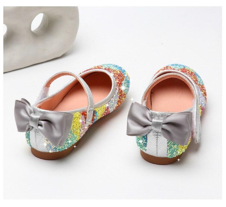 rosa prata crianças verão colorido brilho sapatos