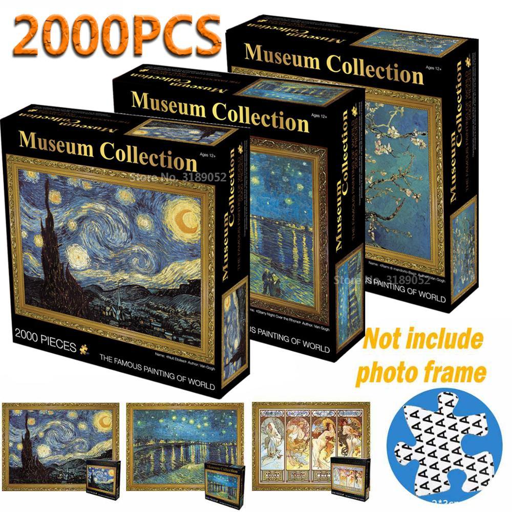 Новые Головоломки, 2000 деталей, знаменитая картина мира, пазлы для взрослых, 2000, для детей, сделай сам, головоломки, творческие, воображаемые развивающие игрушки