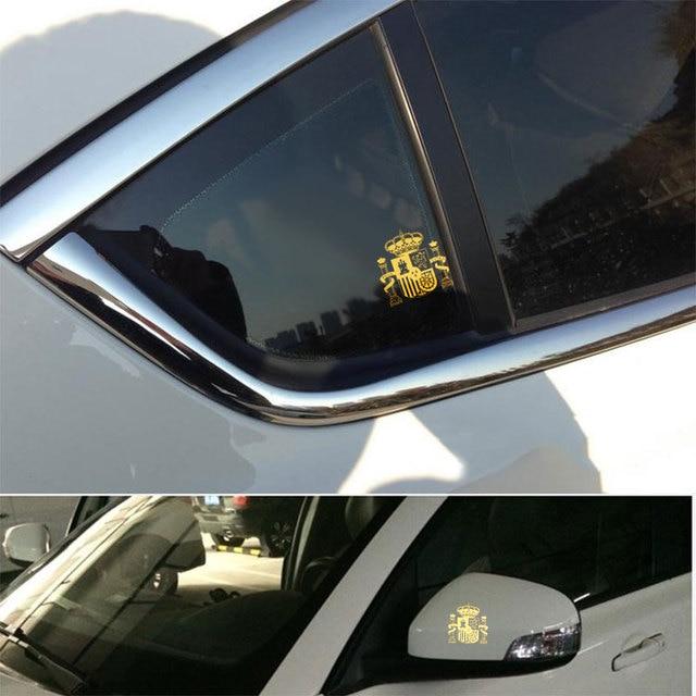4 pçs espanha bandeira nacional emblema 3d níquel metal corpo do carro tronco decalque da janela decoração adesivos para toyota mazda bmw vw audi kia