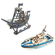 2 шт rctown сборные строительные наборы модель корабля деревянная