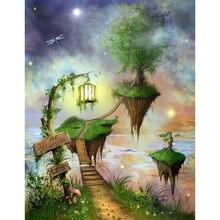 Diy картина по номерам фантазия пейзаж маслом Раскраска мечты
