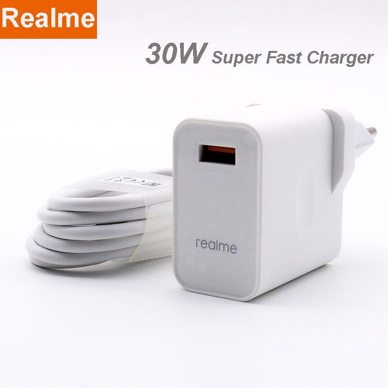 Original realme x50 pro carregador 30w adaptador de energia carga super 5v 6a charing rápido para realme x50 pro realme x x2