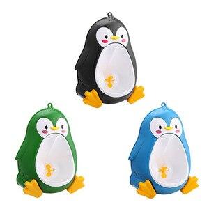 Детские горшок для унитаза милые Пингвины горшок настенные писсуары портативные Обучающие Мальчики Дети туалет герметичные дети горшок ще...