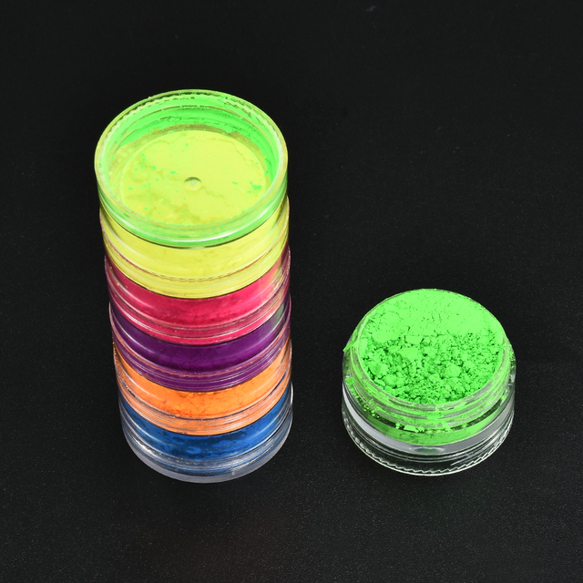 6 Color/Sets Lasting Fluorescent Matte Eyeshadow Neon Pigment Powder Halloween Decoration Eyeshadow Palette Beauty Glazed 4