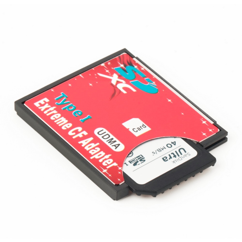 100percent High Quality Single Slot Extreme For Micro SD SDXC TF To Compact Flash CF Type I Memory Card Reader Writer Adapter Newest