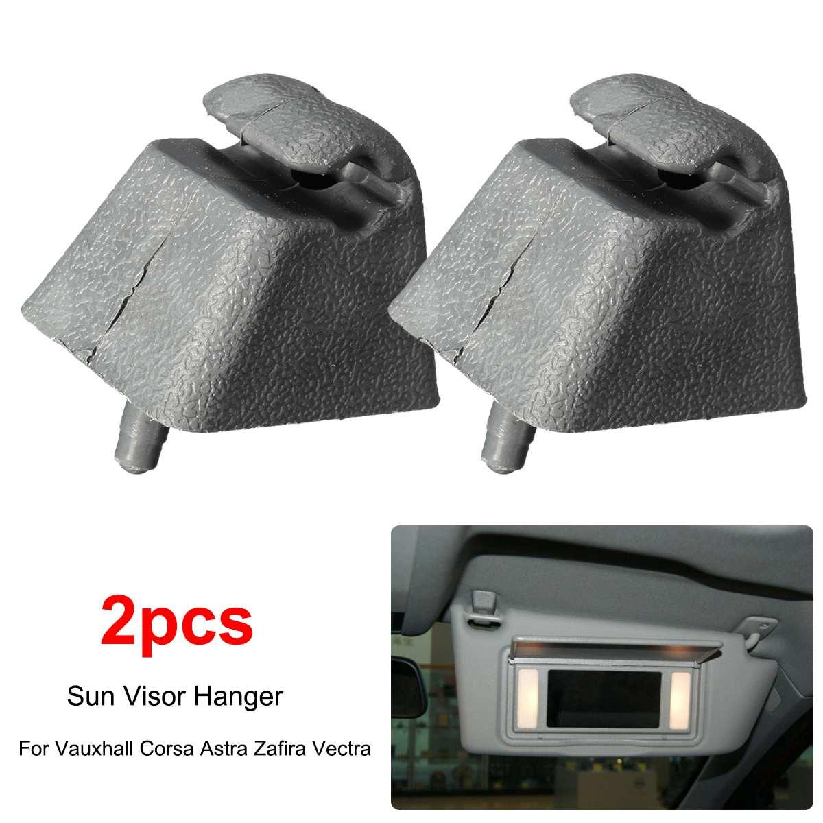 2pcs Car Sun Visor Mount Bracket Clip Hanger Holder For Opel/Vauxhall Corsa/Astra Vectra Meriva Vivaro Vivaro
