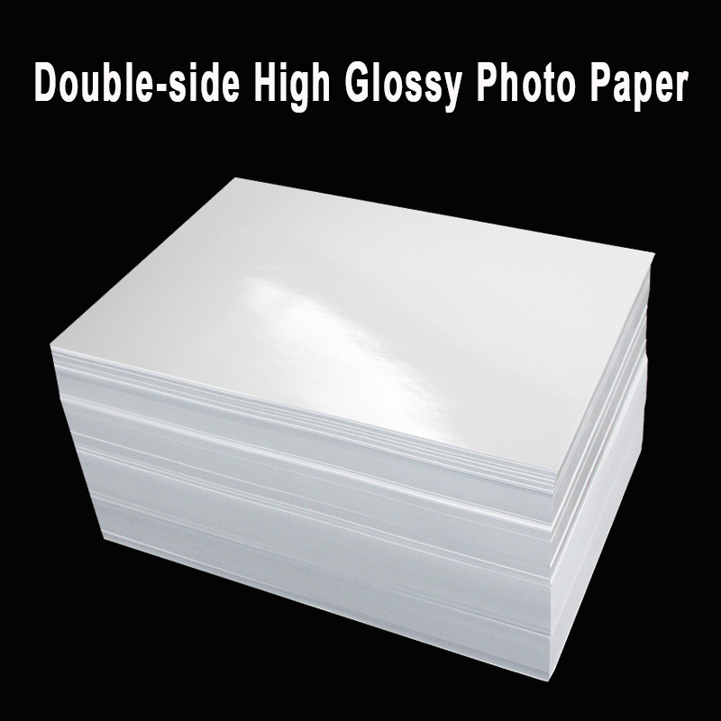 A4 Double Sided High Glossy Photo Paper For Inkjet Printer 120g 140g 160g 200g 240g 260g 280g 300g  Menu Album Coated Paper
