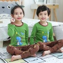 Children Pajamas Clothing Sleepwear Dinosaur Girls Teens Night-Boys for Panda-Print Kids