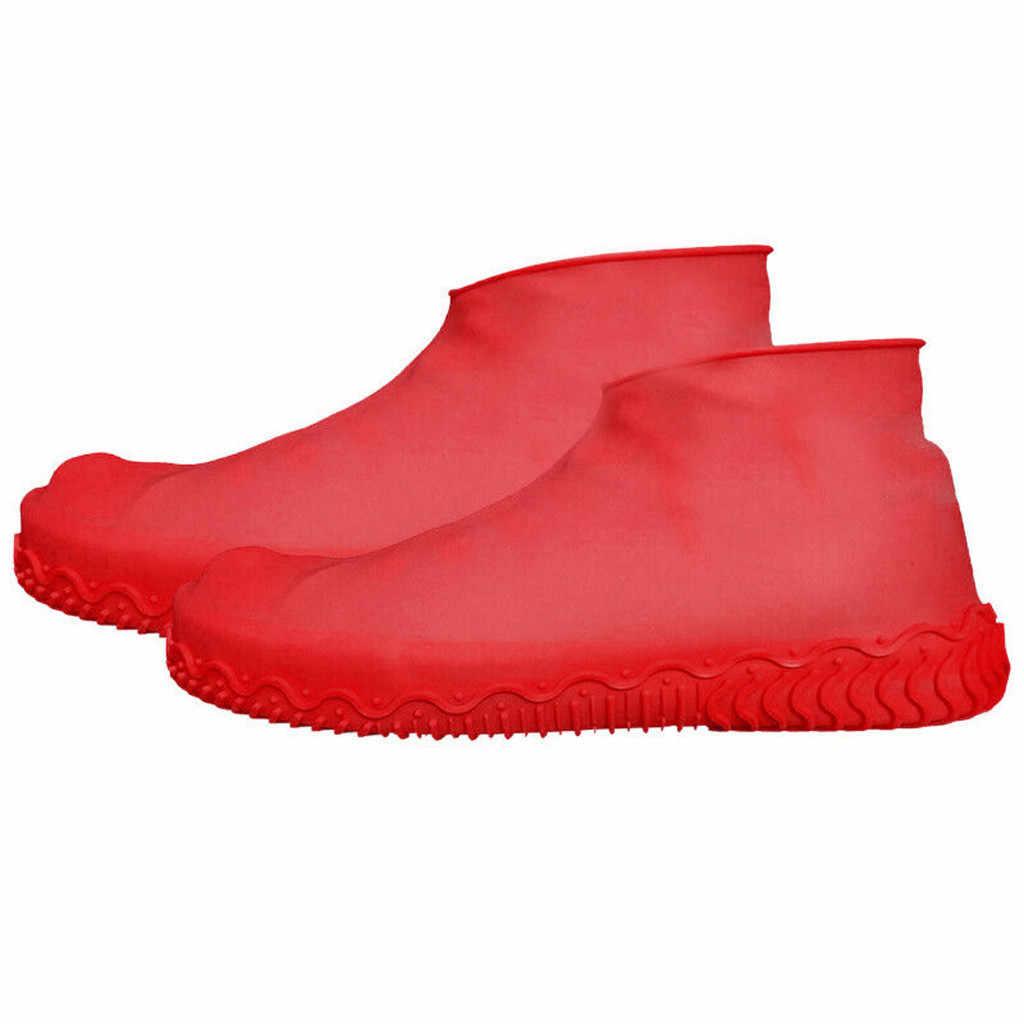 Silikonowe ochraniacze przeciwdeszczowe wodoodporne pokrowce na buty Boot obudowa ochronna nadające się do recyklingu kalosze męskie buty damskie