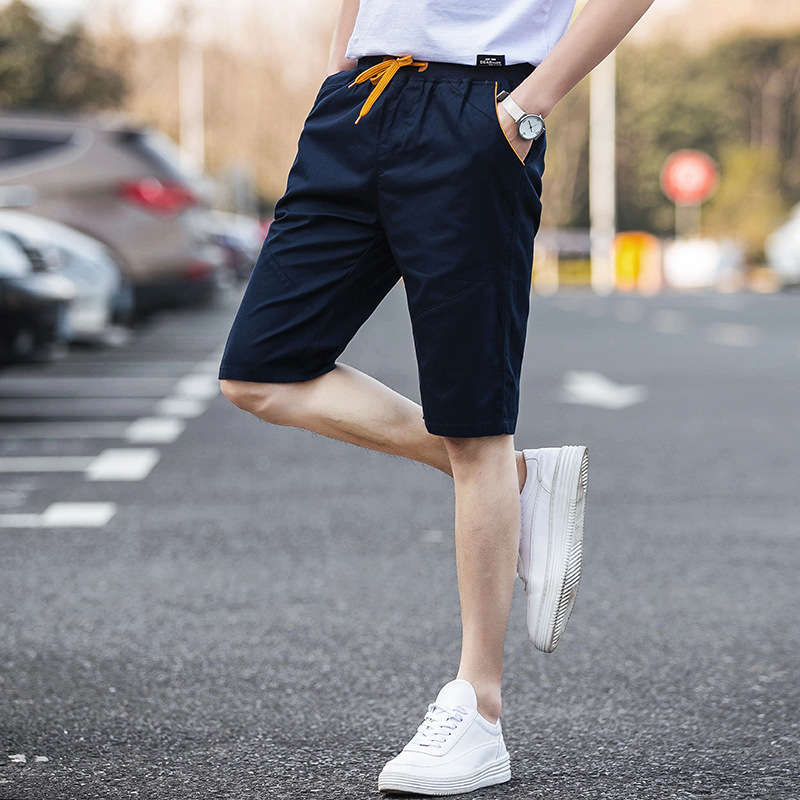 MEN'S Shorts Summer Korean-style Slim Fit Shorts Summer 7 Points In Pants Casual Shorts Beach Breeches Fashion