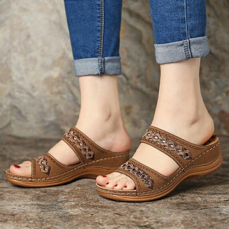 Shoes Woman Summer Comfortable Women Wedges Sandals Platform Casual Non-Slip Roman Women's Sandals Beach Soft Female Loafers 1