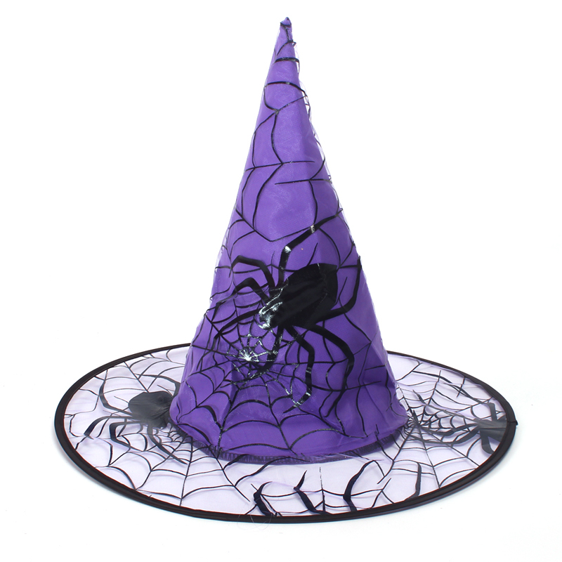Spider Girls Witch Tutu Dress with Hat Black Purple Children Halloween Carnival Cosplay Witch Costume Kids Party Fancy Dresses (6)