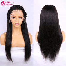 Wig Lace-Frontal Human-Hair 360 Straight with Pre-Plucked Brazilian Wig-Silky RUIMEISI