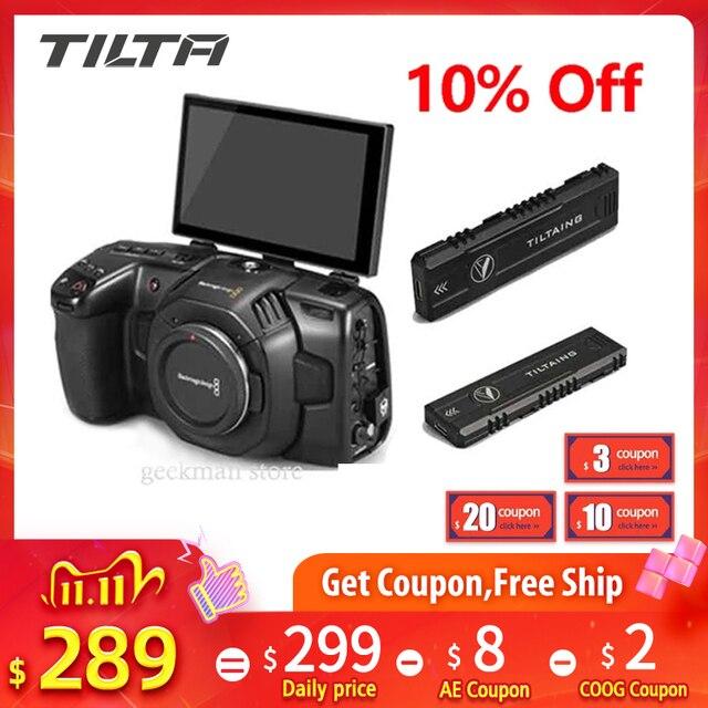 オリジナルtilta bmpccためflipscreenフリップスクリーン 4 18k 6 18k blackmagicカメラM.2 ssdビデオガイドtiltaing画期的なフリップアップ