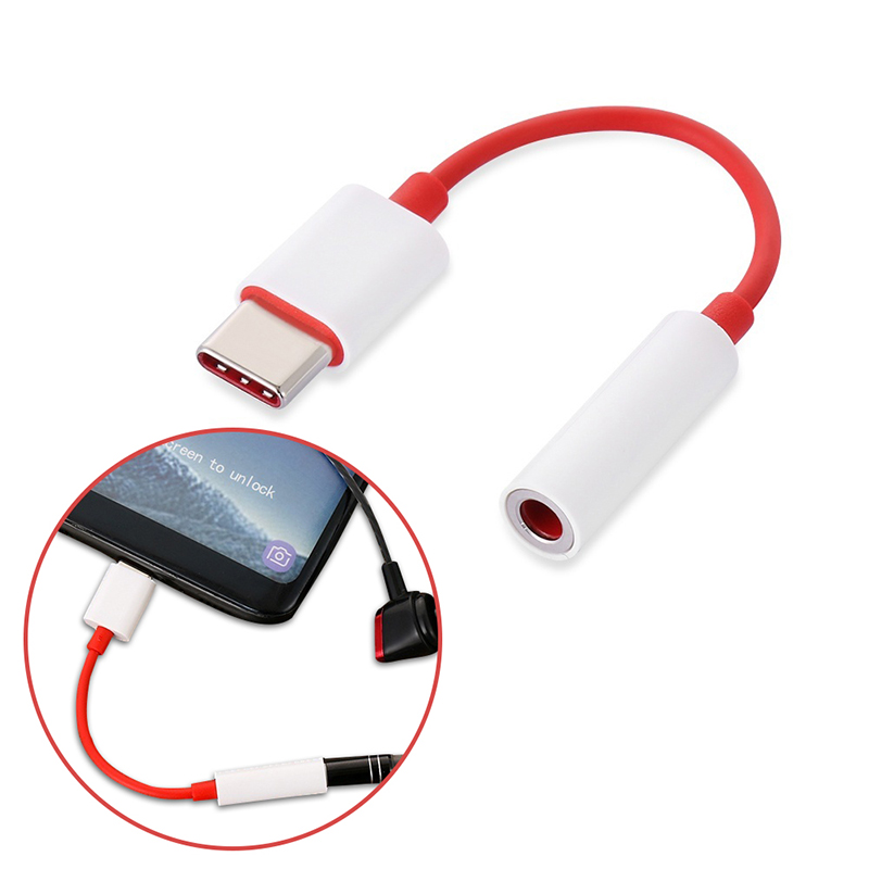 USB Type C To 3.5mm Earphone Jack Adapter Cable For Oneplus 7 Pro 6t Tupe C USB-C Aux Audio Splitter Adaptador Fone De Ouvido