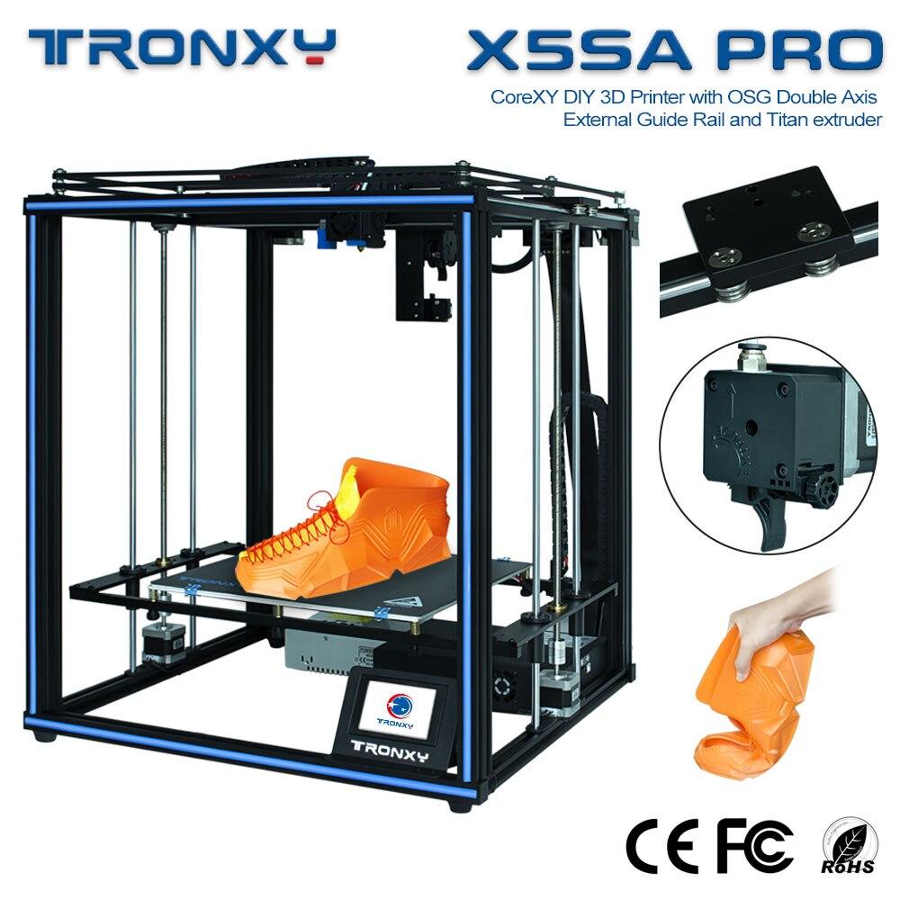 Tela de Toque Tamanho de Impressão Atualizado Tronxy Impressora – X5sa Pro 24 v Faça Você Mesmo Auto Nível Grande Máquina Abs Filamento 3d X5sa-400