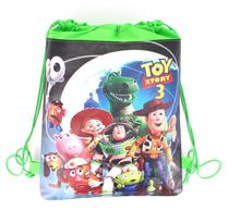 6pcs/lot Boy story child girl boy non-woven drawstring fabric backpack green Buzz light birthday party gift bag supplies