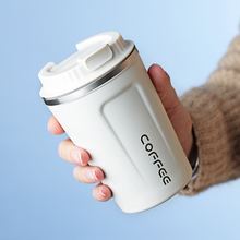 380ML Coffee Cup with Lid Thermocup Seal Stainless Steel Vacuum Flasks Thermo Mug for Car My Water Bottle Thermos Bottle 900ml stainless steel insulated cup with lid double wall vacuum thermos bottle thermos for food travel coffee mug car ice cup