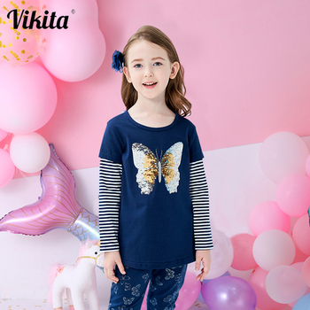 Kids Girl T Shirt Autumn Baby Girls Cotton Tops Toddler Tees Clothes Children Clothing Unicorn T-shirts Long Sleeve Casual Wear vidmid children t shirt baby boys girls cotton long sleeve tops clothes t shirt kids solid color clothing t shirts 4006 18