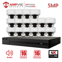 Anpviz 16CH 4K NVR 5MP Dome Audio/4X Optical POE IP Camera Kit Home/Outdoor Security Systems CCTV Video Surveillance NVR Kit