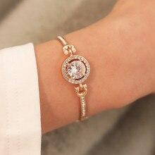 Fashion Luxury Rhinestone Zircon Multi-Layer Bangle Bracelet High Quality Charm for Women Girls Gift