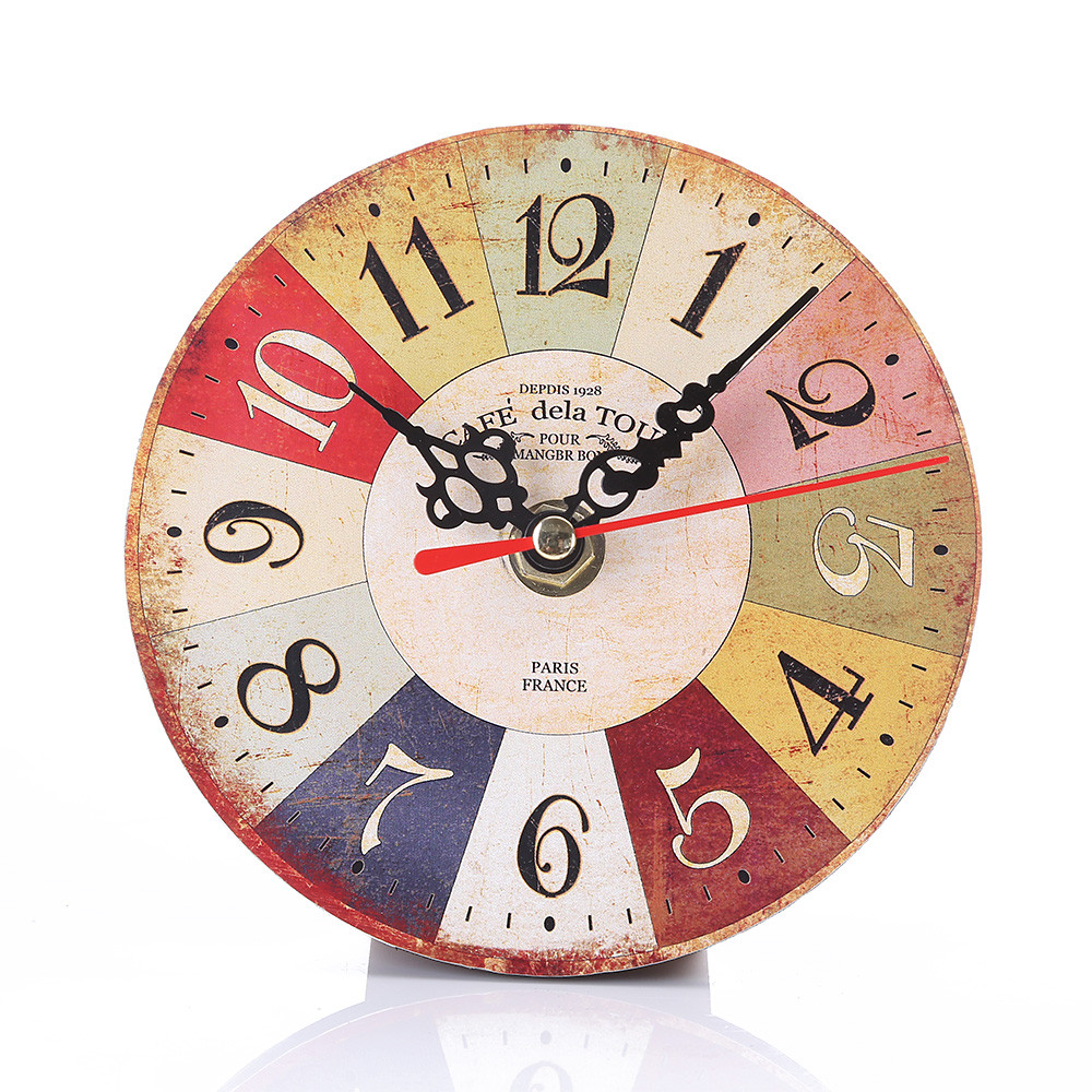 Wall-Clock Office Kitchen Vintage-Style Antique Large Home Wood for Brief title=