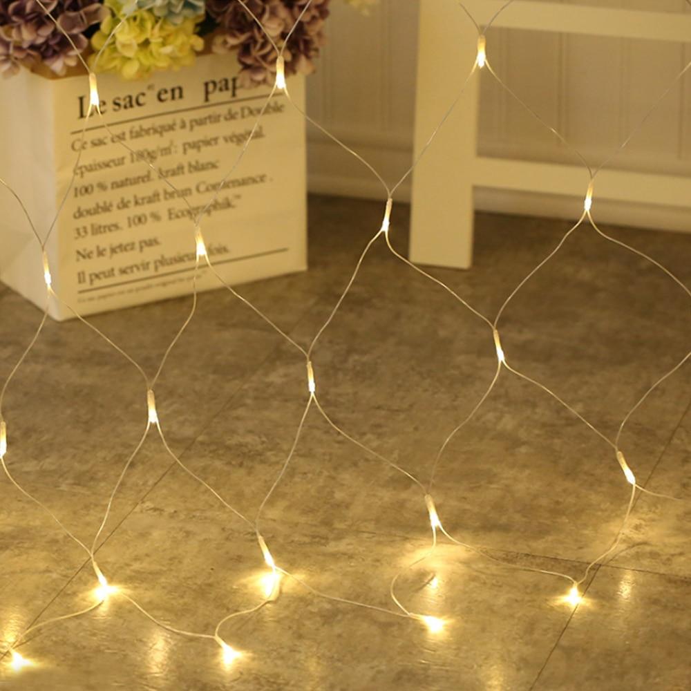 Led Net Mesh String Light Home Garden Wall TV Backgroun Decorate 1.5x1.5M 2x2M 3x2M 6x4M Fairy Starry Wedding Party Garland Lamp
