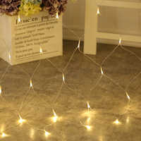 Led Net Mesh String Light Home Garden Wall TV Backgroun Decorate 1.5x1.5M 2x2M 3x2M 6x4M Fairy Starry Wedding Party Garland Lamp