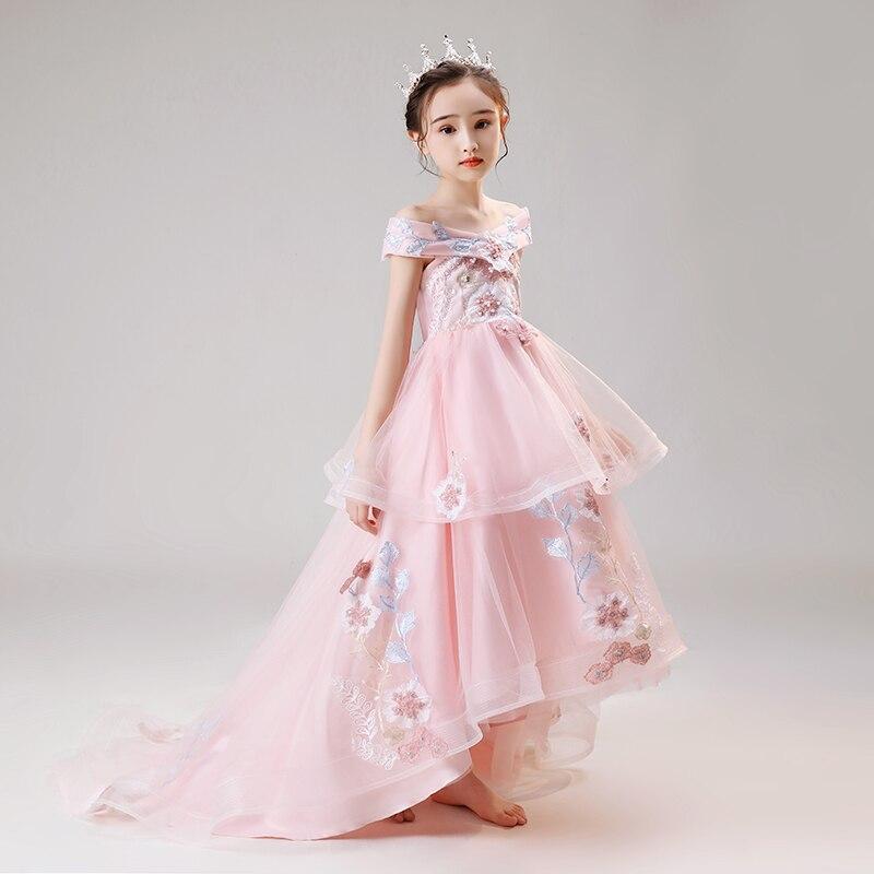 Vestidos da menina flor vestido de baile