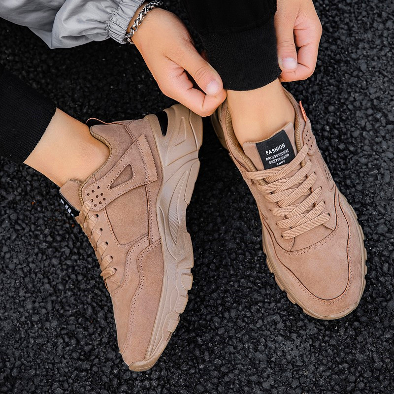 Male Outdoor Leisure Sneakers Thick Bottom Adult Youth Trend Shoes Wear Resistant Men's Casual Shoes Men's Fashion Sneakers