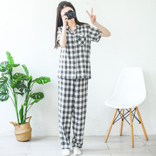 100% cotton  Pajama Summer Women Cotton Pajamas For Adults 1179