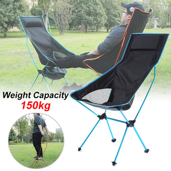 Outdoor Portable Folding Chair Maximum Load Of 150kg Ultralight Travel Fishing Camping Chair Picnic Home Seat Moon Chair 캠핑의자