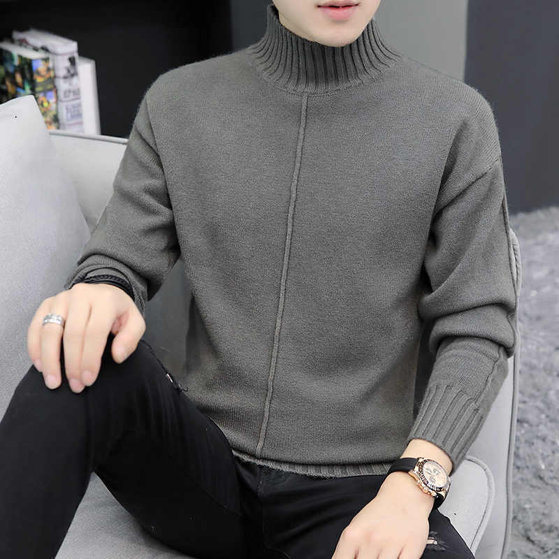 2019 Winter Men Sweter męski golf swobodny Sweter męski Slim Fit marka dzianinowe swetry Sweter Jumper Thermal High Quality