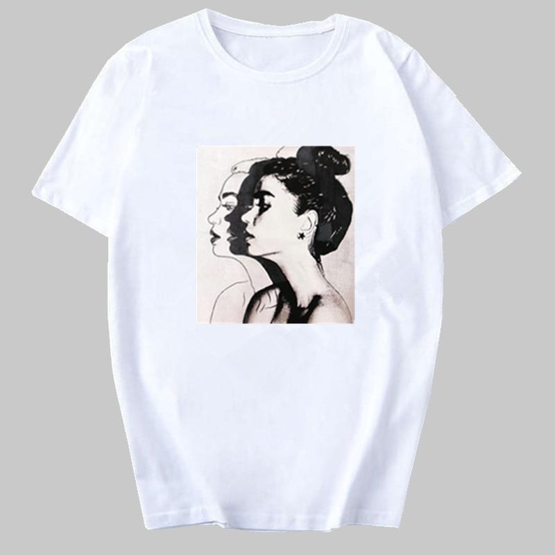 Newest Watercolor High Heels Shoes Print Vogue T shirt Femme Funny T Shirts Women 90s Hip Hop Punk Shirt Hipster Streetwear Tee