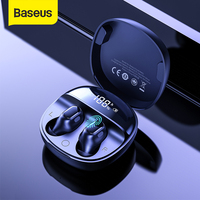 Baseus WM01 Plus cuffie Wireless TWS auricolari Bluetooth 5.0 cuffie Stereo sportive impermeabili con Display digitale a LED