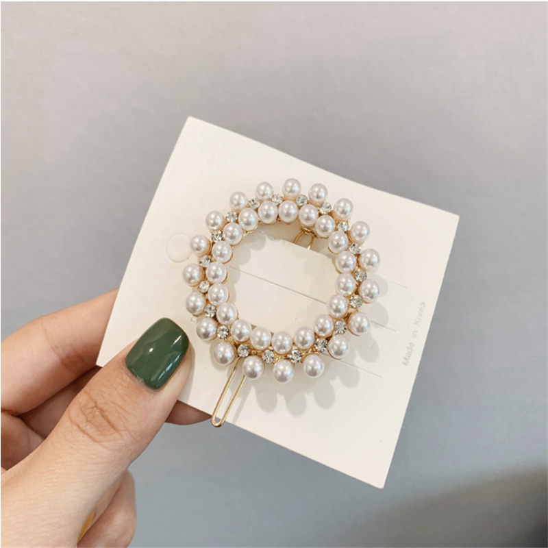 2020 New 1pcs Korea Chic Pearl Rhinestone Hair clip Pins Barrette Hairband Hairpin Headdress for women girls Hair Accessories