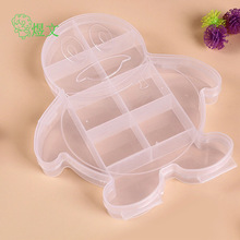 Penguin PP plastic transparent storage box DIY toy Jewelry Rainbow ring rubber special