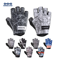 KEMALOCE-guantes de ciclismo para hombre y mujer, manoplas de medio dedo para carreras de carretera, antideslizantes, reflectantes, para deportes al aire libre, para ciclismo de montaña