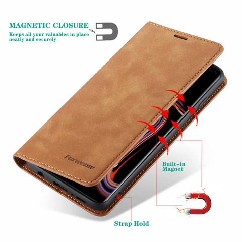 Flip Leather Case for Samsung A50 A30 S10 S9 S8 J4 J6 Plus S10e A70 A60 A20 A40 A80 A90 A6 A7 A8 2018 Magnetic Wallet 360 Cover Lahore
