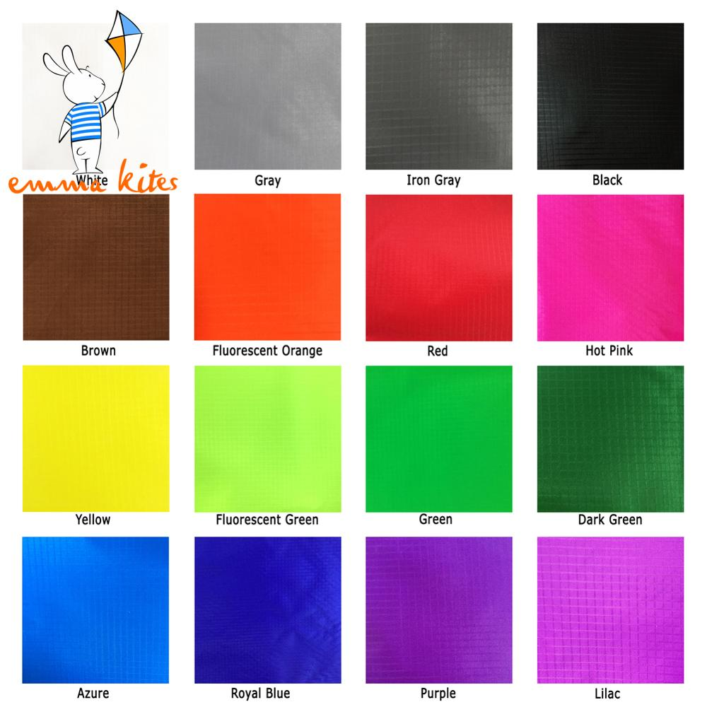 1.5m X 1m Ripstop Nylon Fabric 16 Colors 40D Ultra Light Kite Fabric PU-Coated Water Repellent Fabric For Tent Flags Making