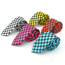 Mens Ties Wedding-Shirts Formal-Dress White Necktie Gift Plaid Wide 2inch Checkered Classic