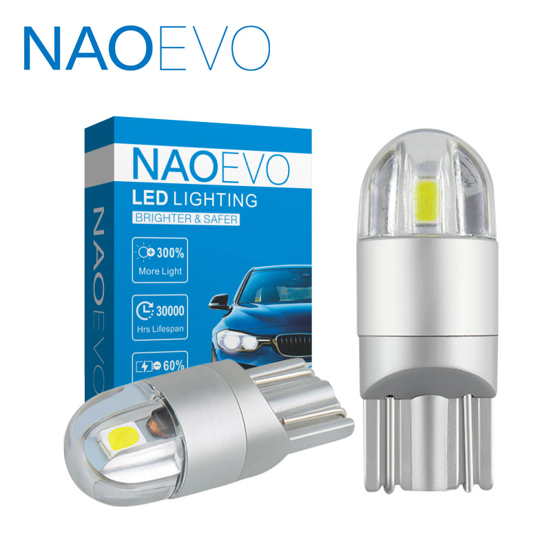 NAOEVO <font><b>T10</b></font> <font><b>LED</b></font> W5W 3030 12V Car <font><b>led</b></font> <font><b>light</b></font> White 5W5 WY5W <font><b>Motorcycle</b></font> Accessories 168 194 Amber Red Clearance <font><b>Lights</b></font> Reading lamp image