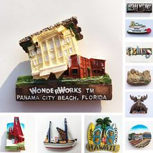 USA Neue Yourk Kühlschrank Magneten Florida WonderWorks San Francisco Hawaii Tourismus Souvenir Magnetischen Kühlschrank Magneten Geschenke(China)