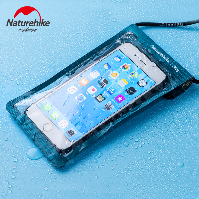 Naturehike TPU Phone Pouch Waterproof Bag Anti Sticking Sealed Swimming Waterproof Phone Case Touchscreen IPX8 Diving 4 Colors